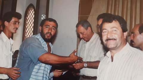 Photo of حسين عبد الرسول بيضون و حسن ابراهيم بيضون (أبو أحمد ) و محمد مهدي قانصو (أبو عباس) في صورة من الذاكرة