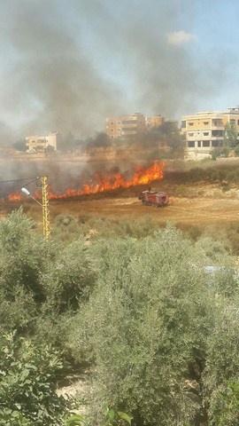 Photo of بالصور : حريق كبير في منطقة الصافح