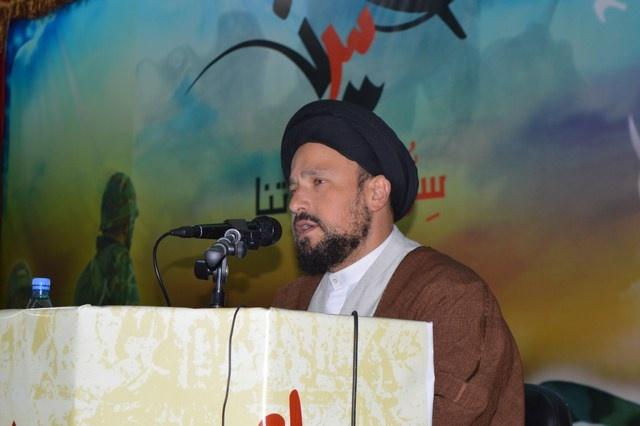 Photo of بالصور : مجلس عزاء لارواح شهداء البلدة اقامه حزب الله