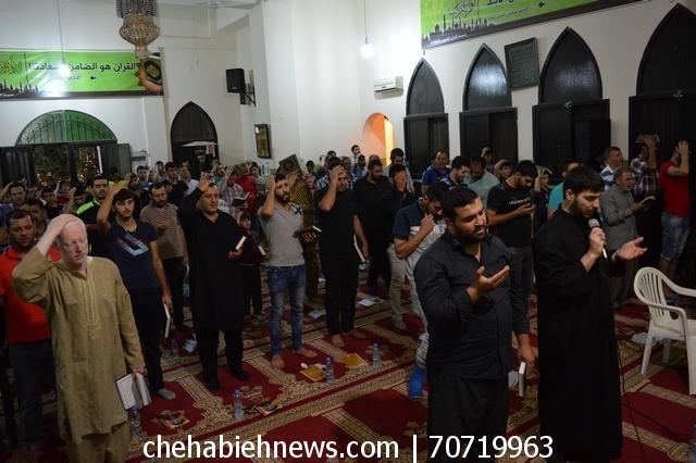 Photo of بالصور | حزب الله أحّيا ليلة القدر الاولى في مسجد الامام الحسين (ع) _ العين