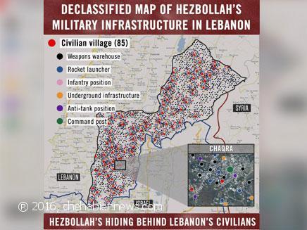 Photo of جيش العدو الإسرائيلي ينشر خريطة لبنك أهدافه في لبنان