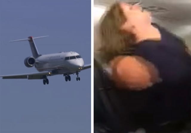 Photo of حاولت فتح باب الطائرة وهي في الجو…راكبة تثير الذعر وتردد عبارة غريبة!
