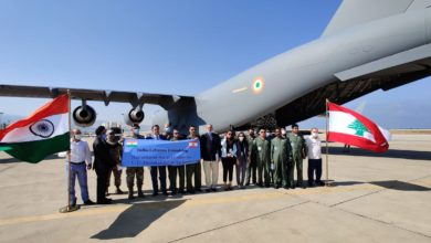 Photo of الهند سلمت اكثر من 70 طنا متريا من المساعدات الإنسانية الطارئة الى لبنان